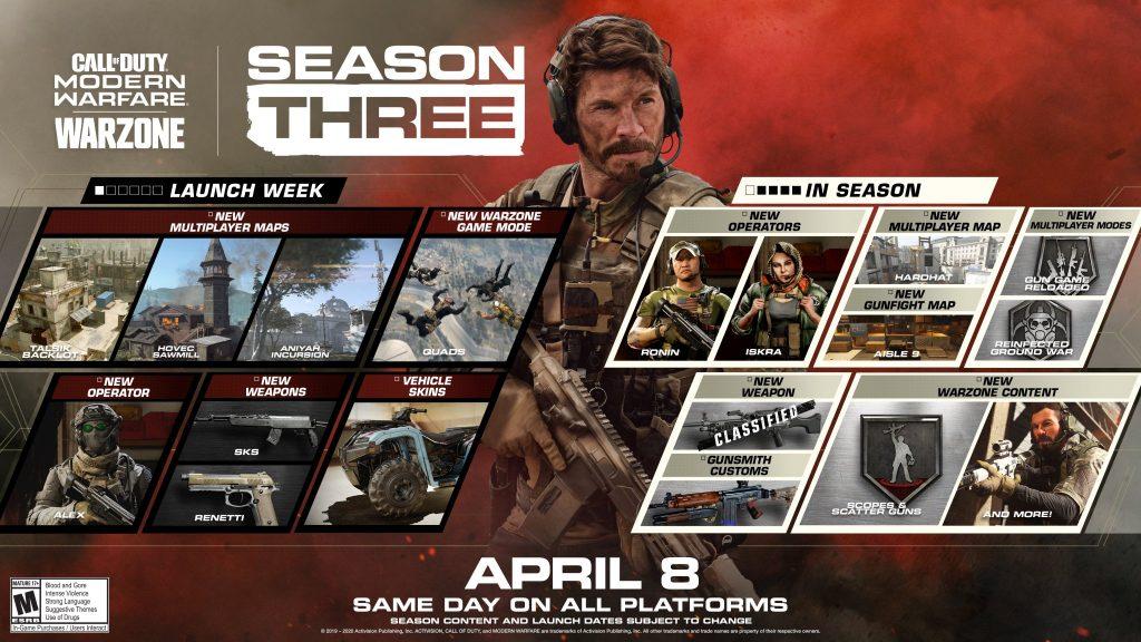 season three call of duty