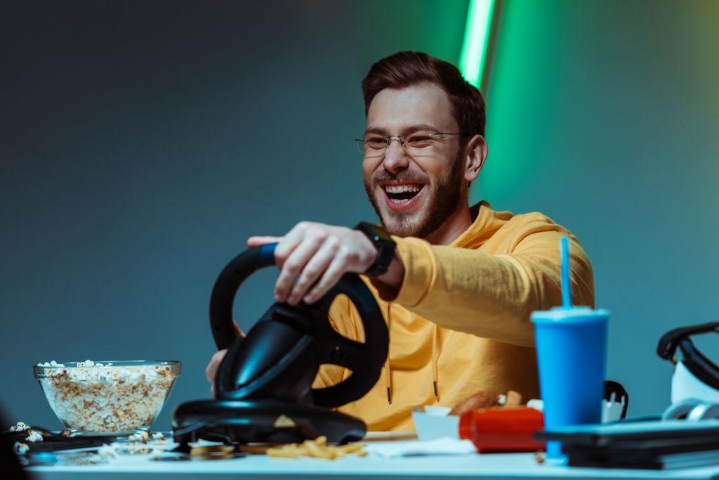 video game steering wheel